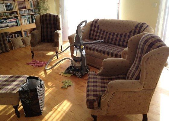 Čištění sedačky, čištění křesel