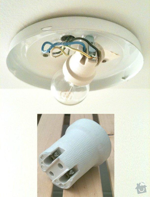 Oprava nástropního svítidla v koupelně: vanek_svitidlo