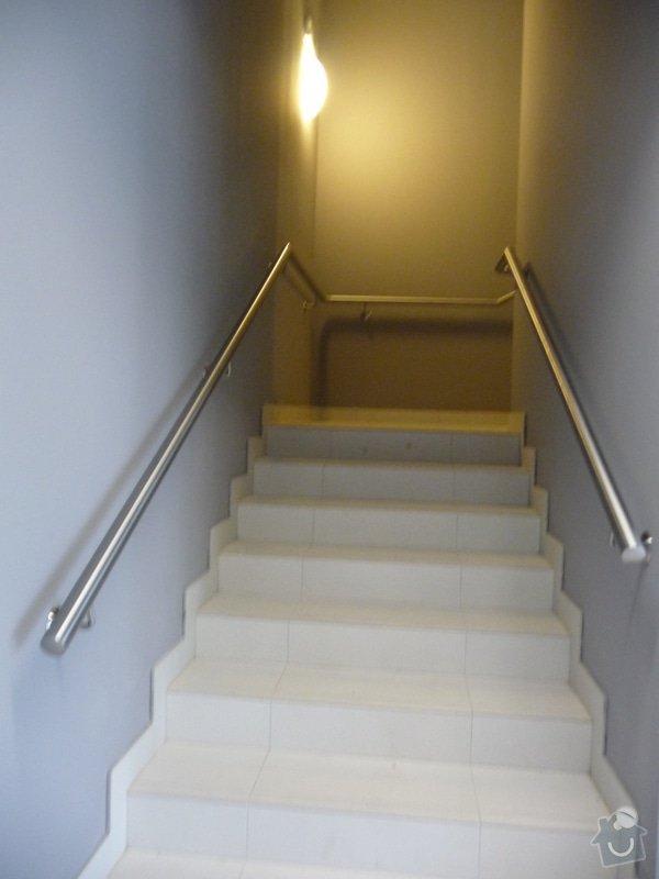 Nerezové zábradlí a madla na schodišti SERVIND Tuchoměřice: P1050927
