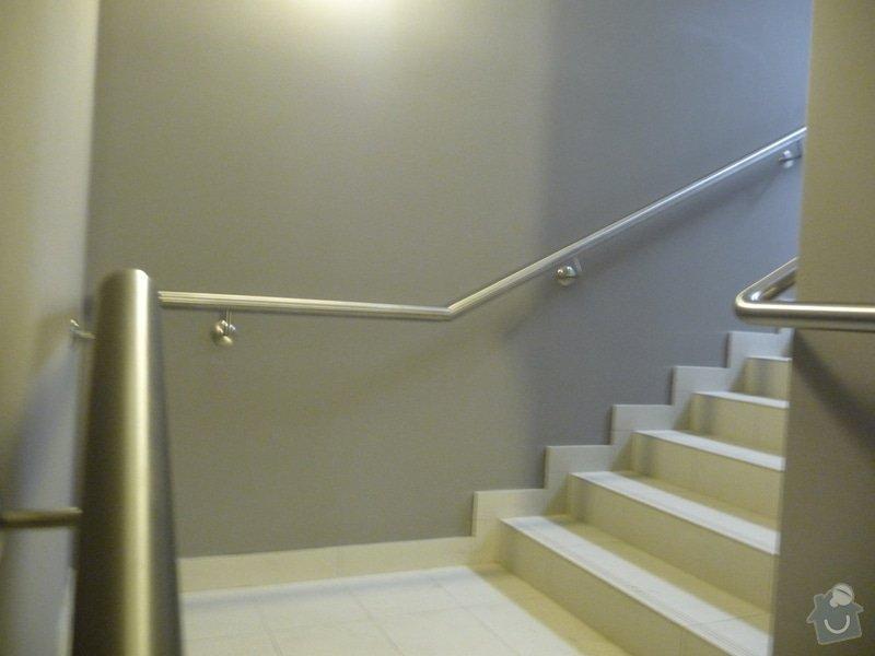Nerezové zábradlí a madla na schodišti SERVIND Tuchoměřice: P1050930