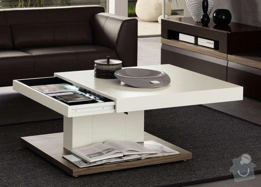Konferenční lakovaný stolek: STOLEK_2b