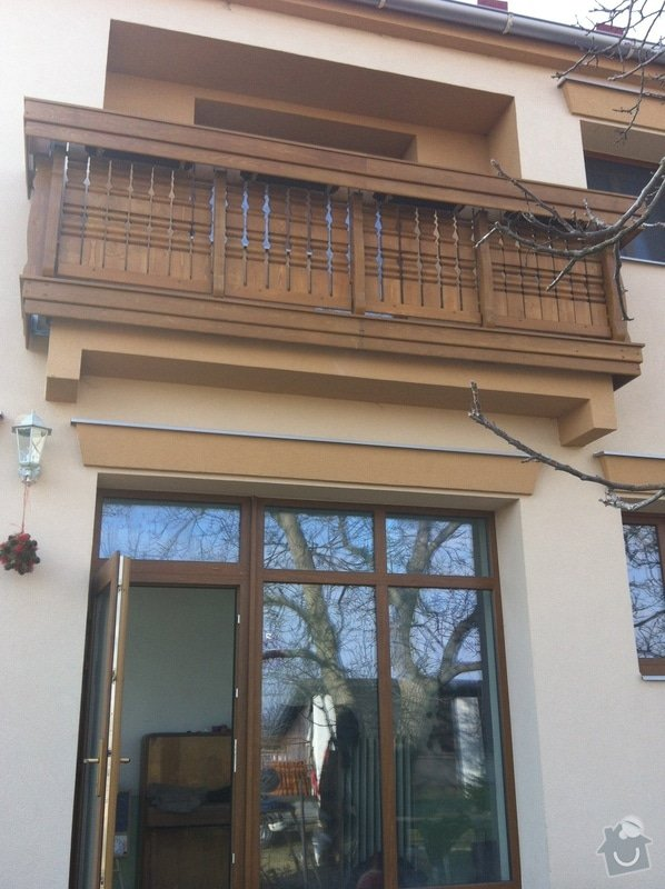 Výroba dřevěného balkónu v alpském stylu: IMG_3162