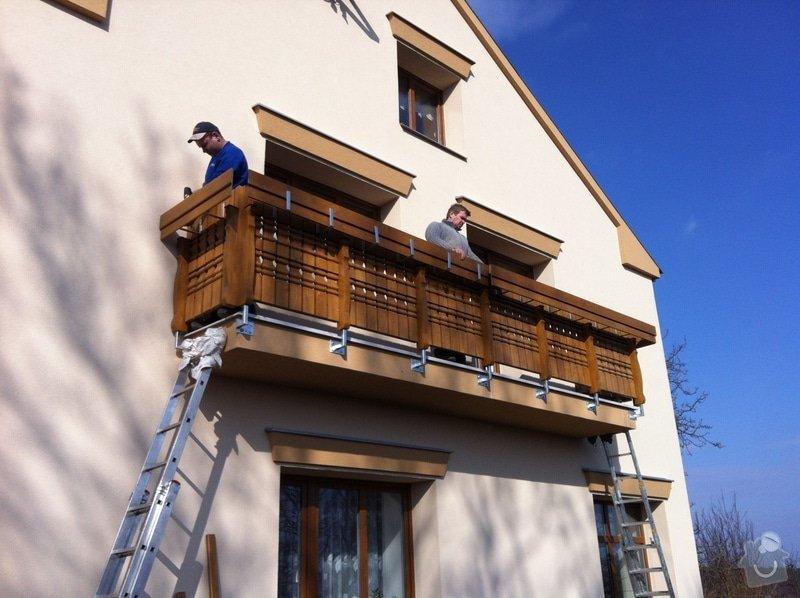 Výroba dřevěného balkónu v alpském stylu: IMG_3157