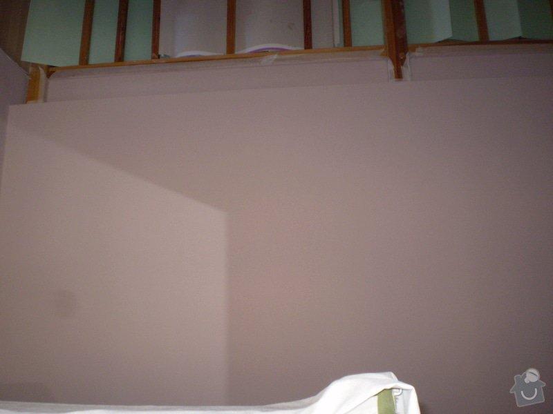 Vnitřní dělící příčka ze sádrokartonu 280 cm x 280: P3160009