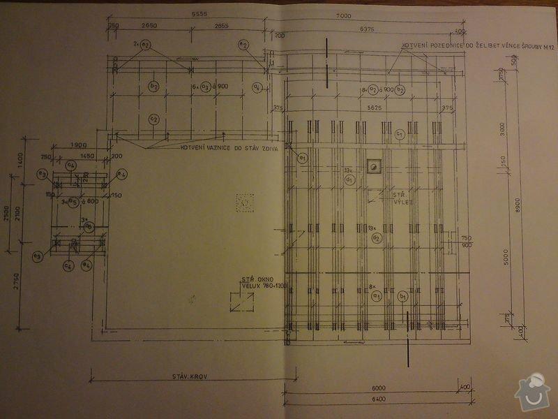 Stavbu sedlové střechy: DSC08453
