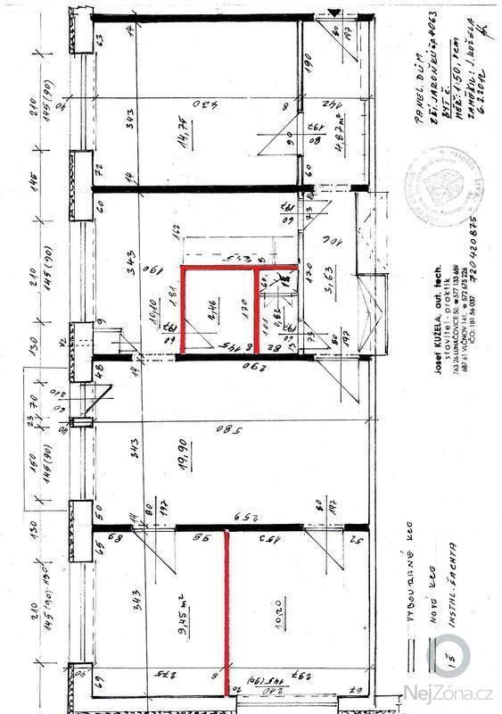 Bourání panelových nenosných příček v panelovém bytě: plan_bytu