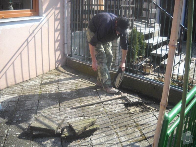 Pokládka dlažby cca 36 m2: DSCN0729