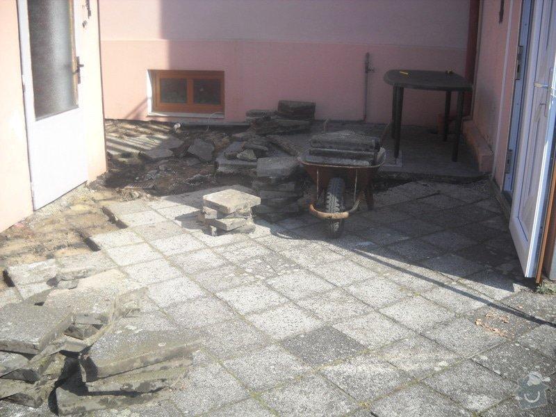 Pokládka dlažby cca 36 m2: DSCN0730
