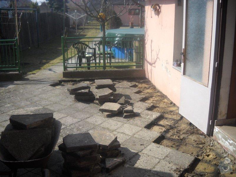 Pokládka dlažby cca 36 m2: DSCN0734
