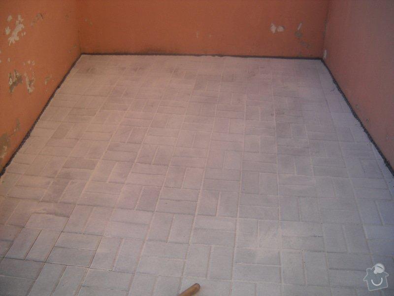 Pokládka dlažby cca 36 m2: DSCN0792