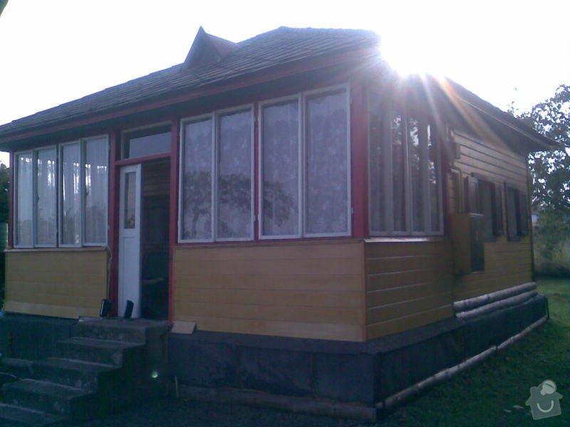 Oprava podezdivky 4krat 6m.a obložení dřevěné chaty na ní.: Obraz011_2_