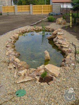 Stavba jezirka a usiti celni plachty na zastreseni bazenu: Foto_jezirko_1