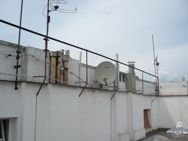 Oprava hromosvodu, instalace malého okapu: hromosvod_oprava