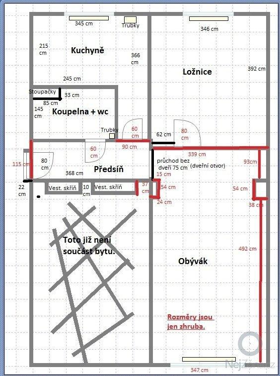 Rekonstrukce bytu 2+1 (cca 52 m2): Byt2