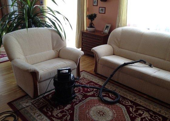 Hloubkové čištění koberce, antibakteriální čištění sedačaky, parní čištění koupelny