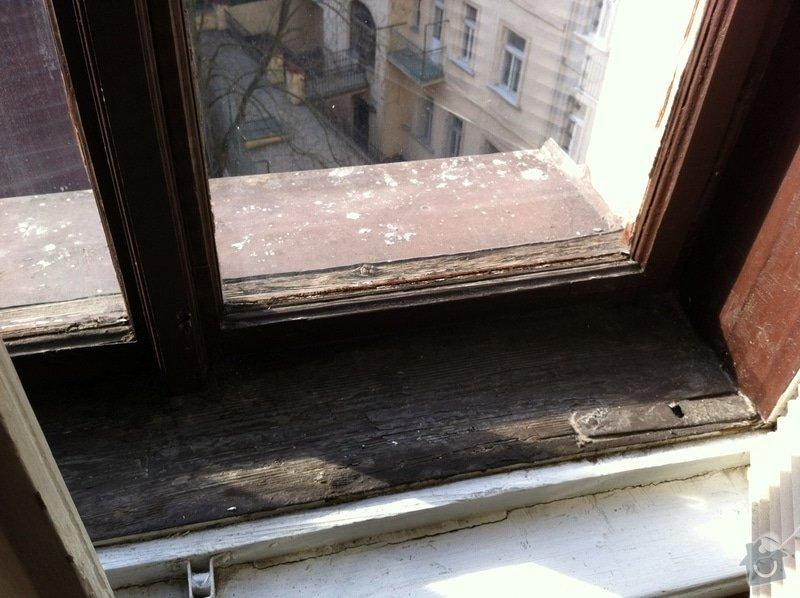 Repase 3 dřevěných špaletových oken a vstupních dveší: IMG_0442