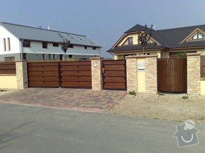 Vjezdová brána, branka, točna na popelnici: brana_s_vyplni_branka_tocna_na_popelnici