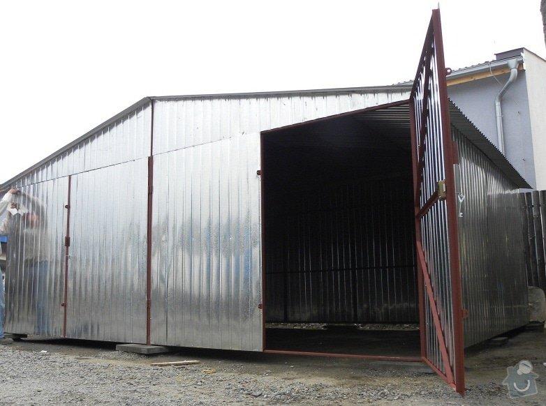 Plechová montovaná garáž: garaze_009