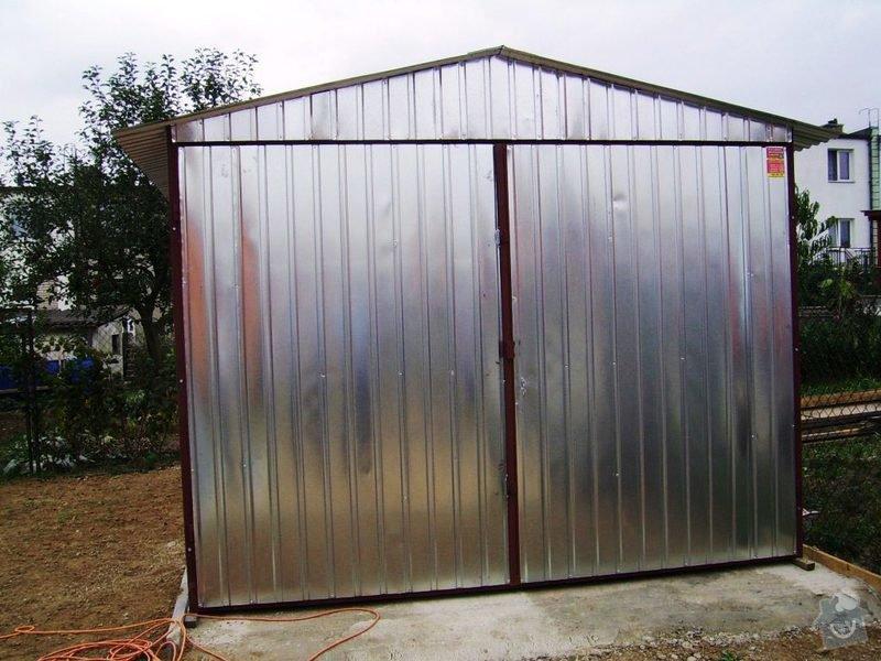 Plechová montovaná garáž: 3x5m_sedlova_strecha_kridlova_vrata_13.000_-