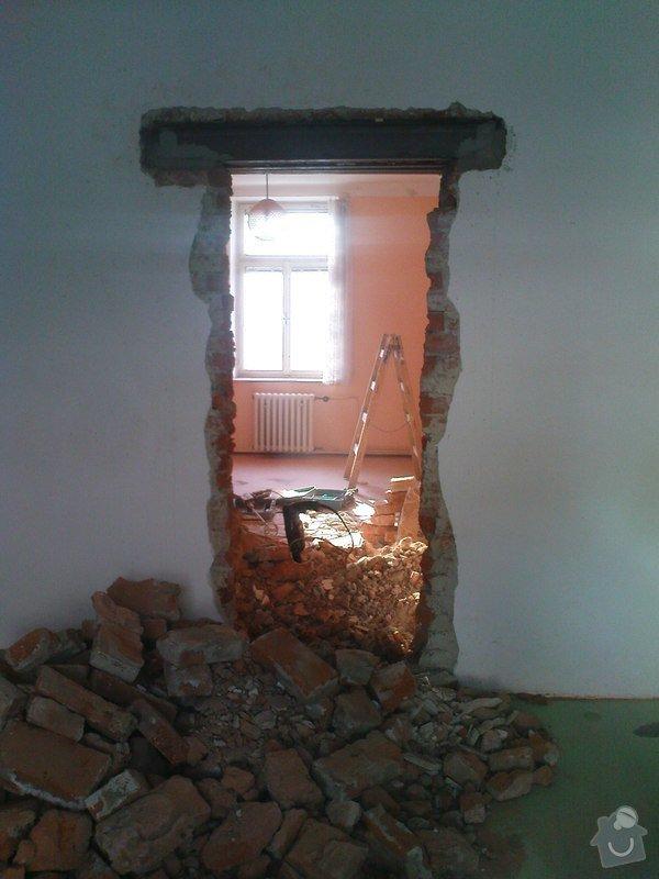 Realizace dveří do nosné zdi : DSC00257