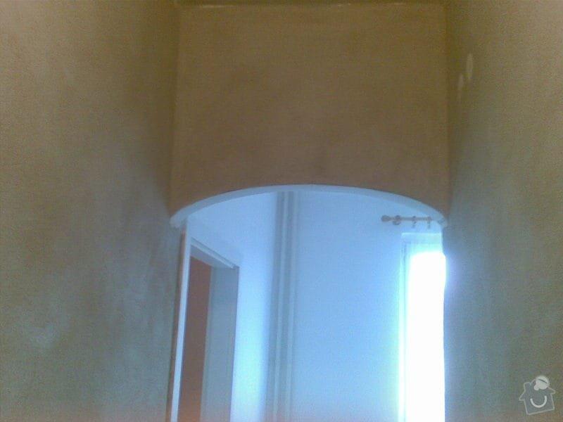 Štukování předsíně a chodby (cca 25 m2): petriny