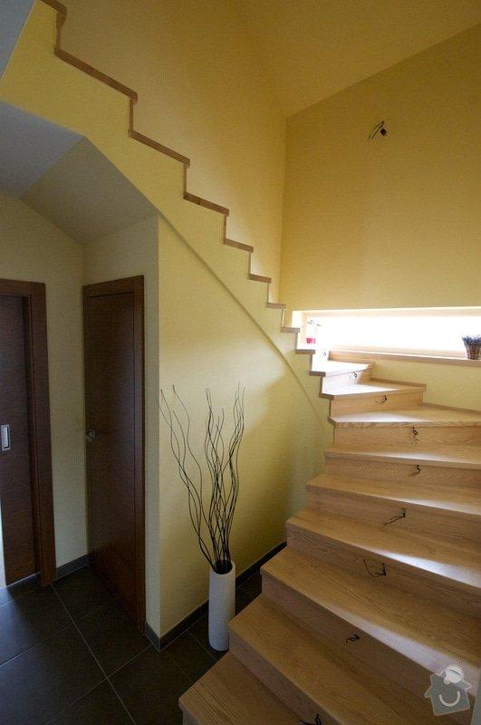 Nerez zábradlí s dřevěným madlem: schody2