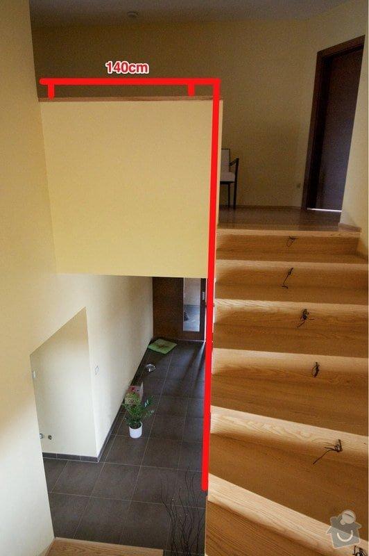 Nerez zábradlí s dřevěným madlem: schody3-zabradli