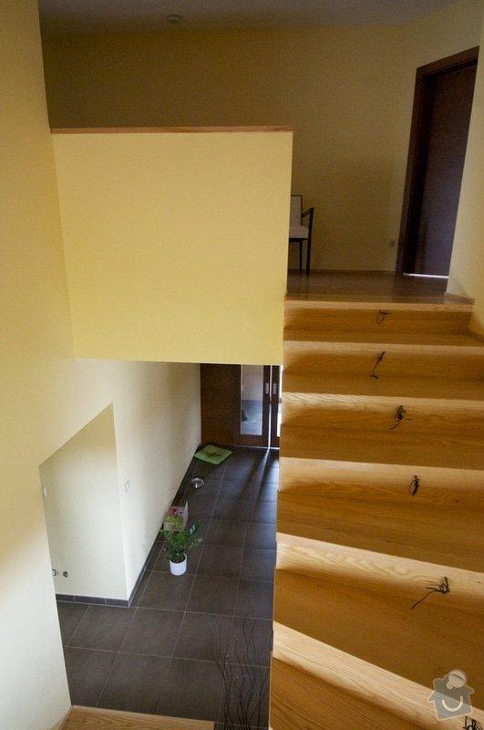 Nerez zábradlí s dřevěným madlem: schody3