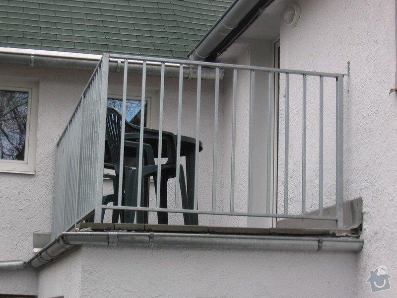 Zábradlí na terasu a francouzské okno.: IMG_2769