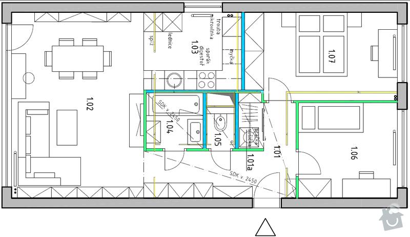 Rekonstrukce panelového bytu: planek