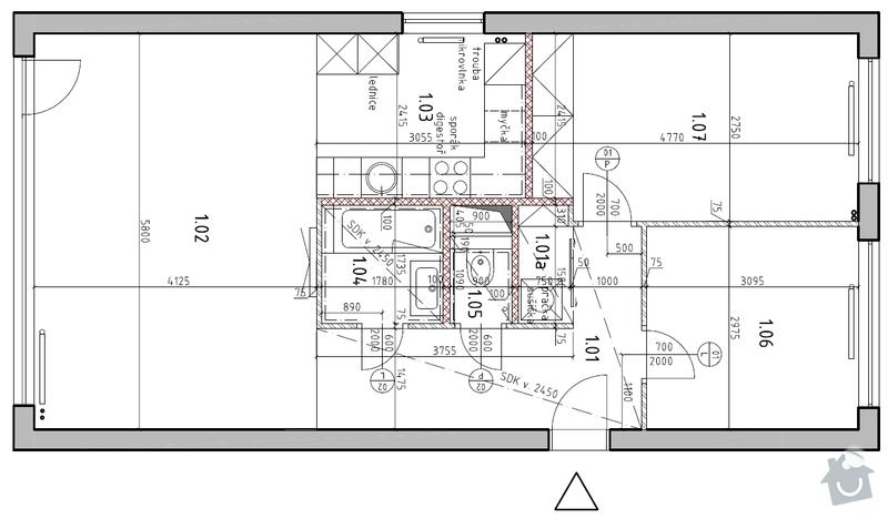 Rekonstrukce panelového bytu: planek2