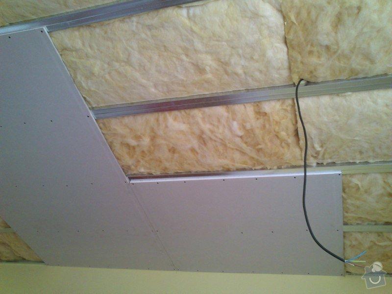 Snížení a zateplení stropu v kanceláři, včetně malování: sk17i_010