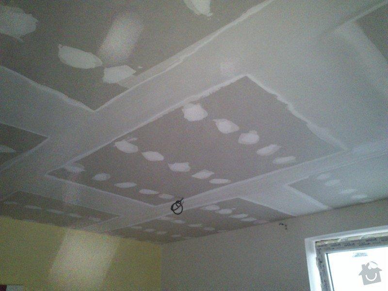 Snížení a zateplení stropu v kanceláři, včetně malování: sk17i_012