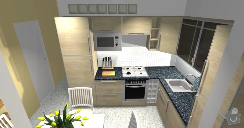 Poptávka návrh a rekonstrukce bytového jádra - 2+1, Vídeňská, Brno: P1_viz3