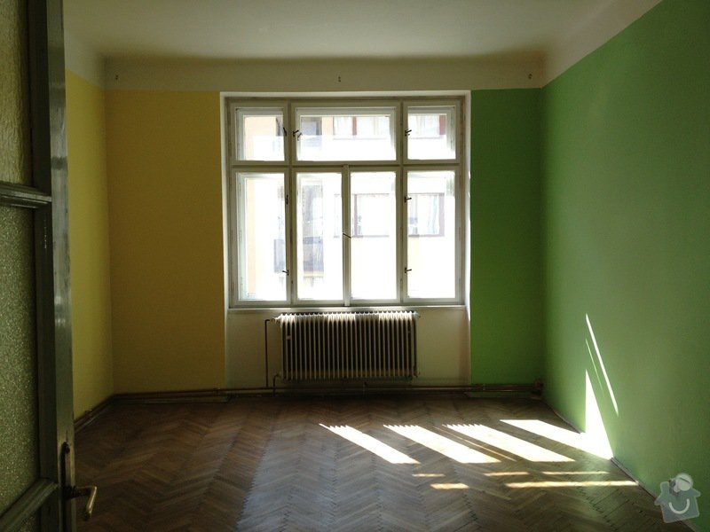 Malířské práce byt 3kk/100m2(chodba, komora, koupelna, toaleta): loznice1