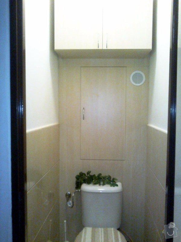 Vyrobení zadní stěny na záchodě: fotografie0179