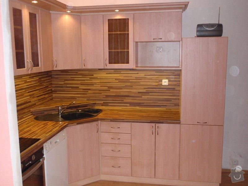 Úprava staré kuchyňské linky, pokládka PVC : P4062361