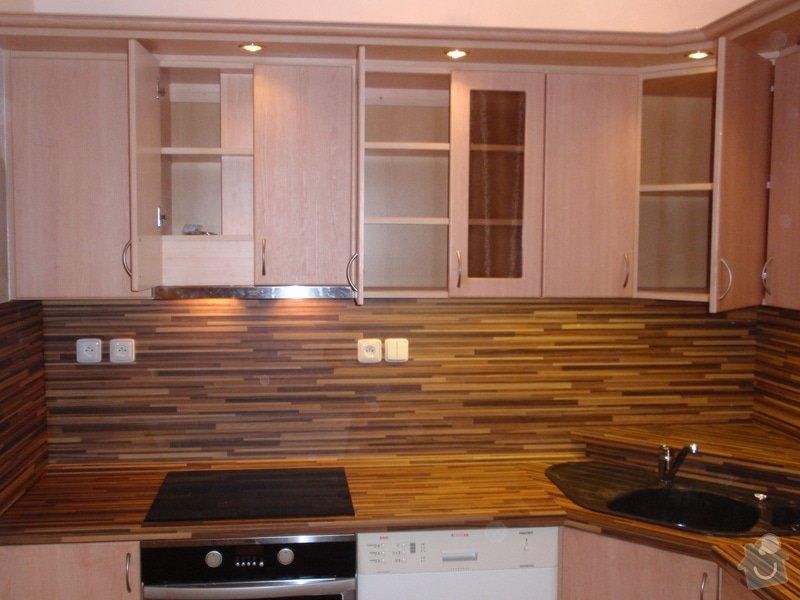 Úprava staré kuchyňské linky, pokládka PVC : P4062362