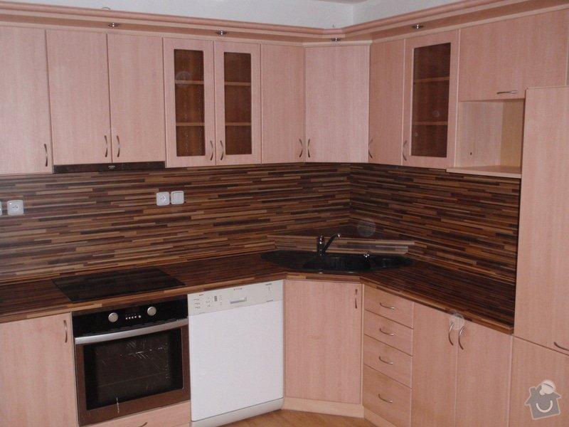 Úprava staré kuchyňské linky, pokládka PVC : P4062369