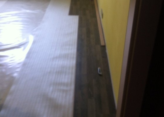 Položení plovoucí podlahy - laminátové