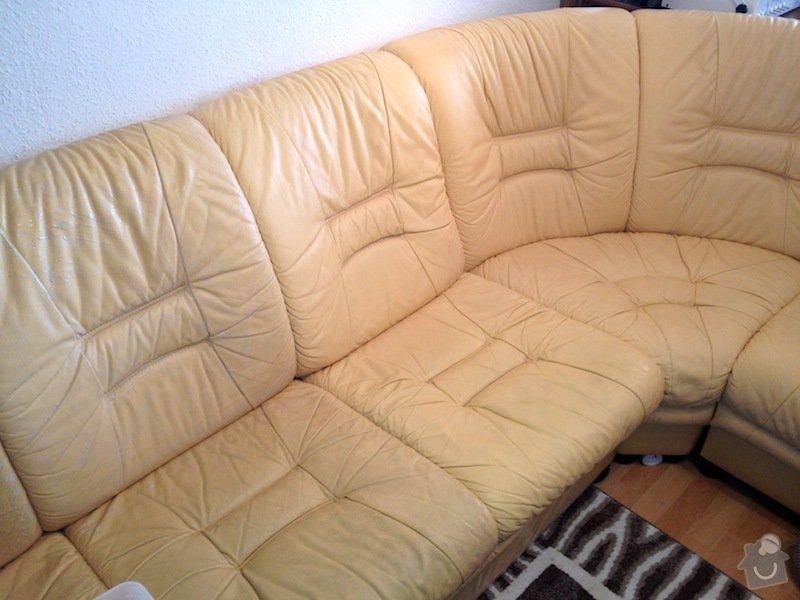 Čištění kožené sedačky, čištění koženého křesla, čištění koženého taburetu: IMG_0597