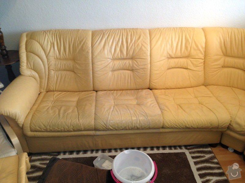 Čištění kožené sedačky, čištění koženého křesla, čištění koženého taburetu: IMG_0598