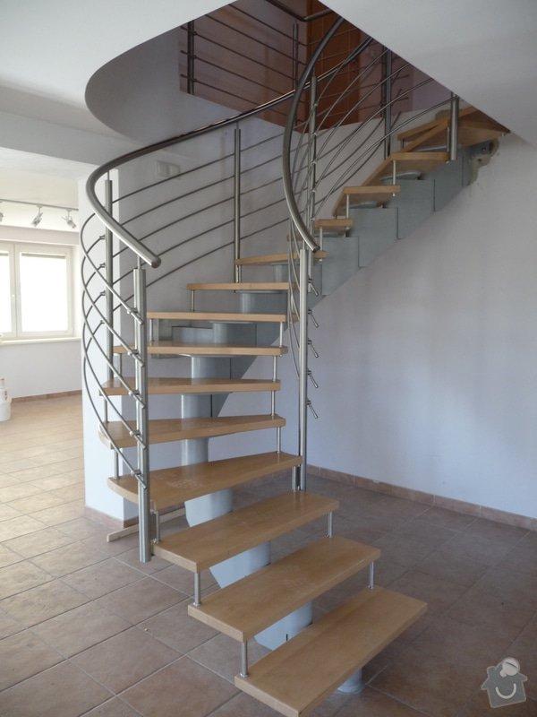 Nerezové zábradlí na točité schodiště : P1050945