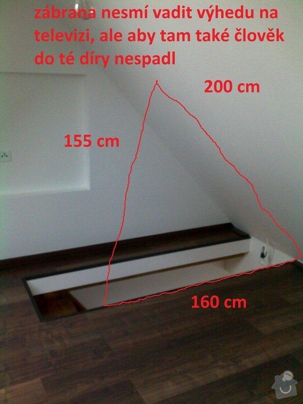 Skleněné schodiště: zabrana