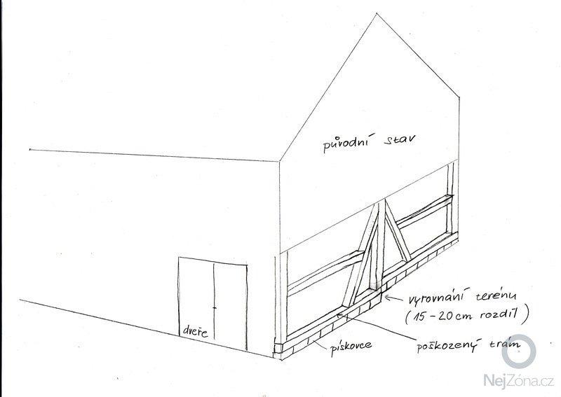 Rekonstrukce dřevěné stodoly: IMG_0001