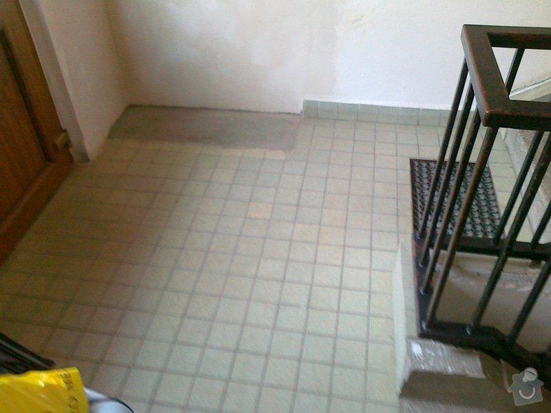 Výměna dlažby v domě: zadveri