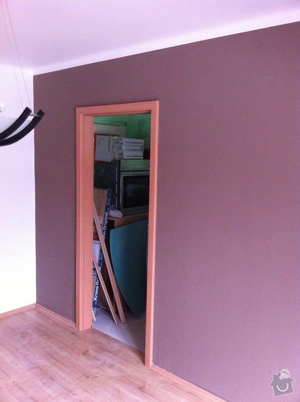 Rekonstrukce koupelny, změna dispozice v koupelně, pokládka podlah, malba bytu, dodání a montáž obložkových zárubní a dveří: ber5
