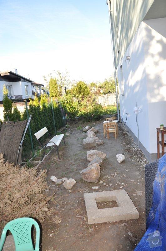 Návrh a realizace malé zahrady Praha 8 - Dolní Chabry: sever_pohled_na_vychod