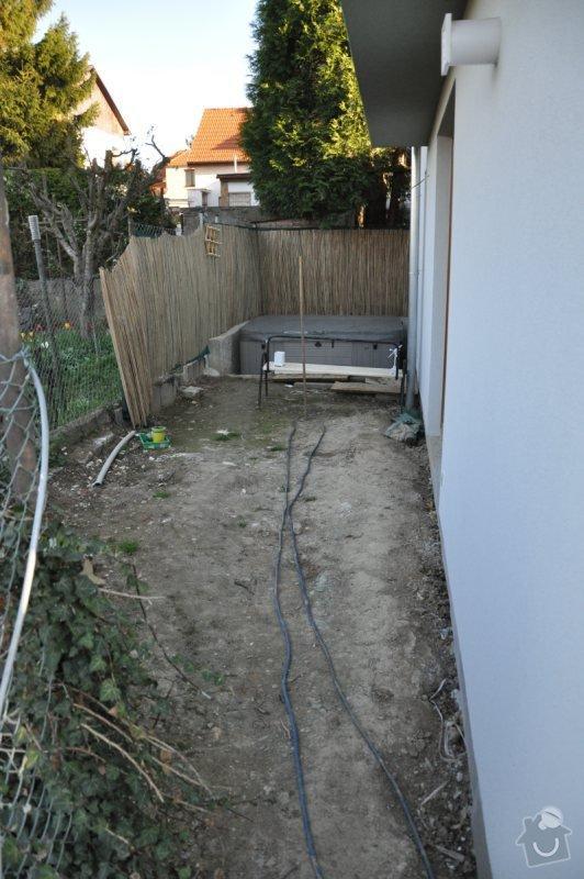 Návrh a realizace malé zahrady Praha 8 - Dolní Chabry: vychod_pohled_na_jih