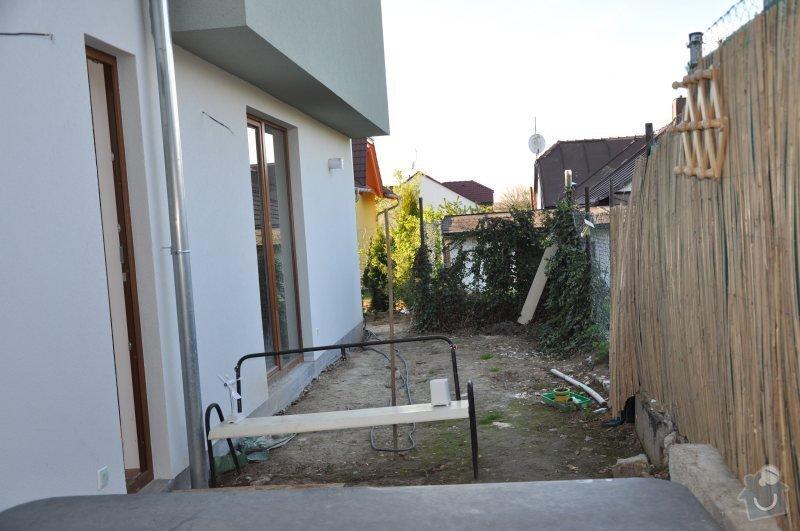 Návrh a realizace malé zahrady Praha 8 - Dolní Chabry: vychod_pohled_na_sever